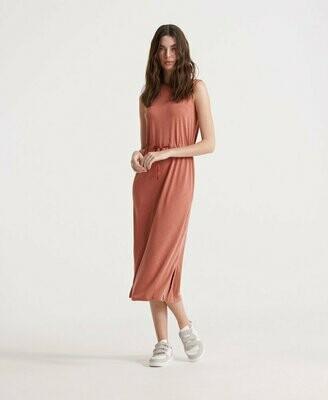 Vestido Midi Con Cordón De Ajuste Desert