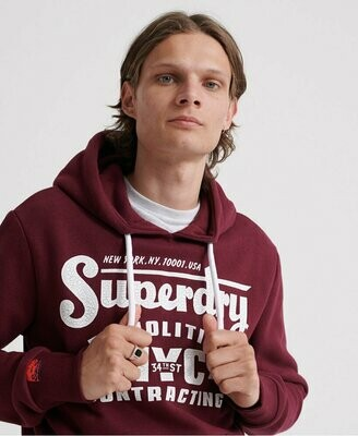 Sudadera Demolition Burgundy Burdeos