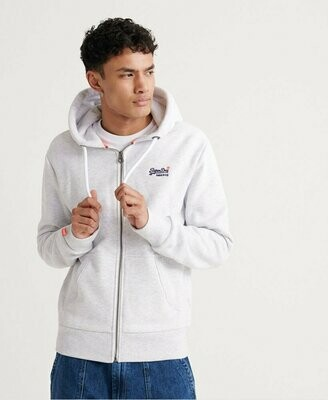 Sudadera Orange Zip Hood Ice Marl
