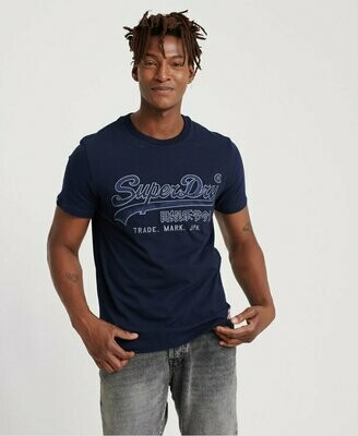 Camiseta downhill race aplique navy