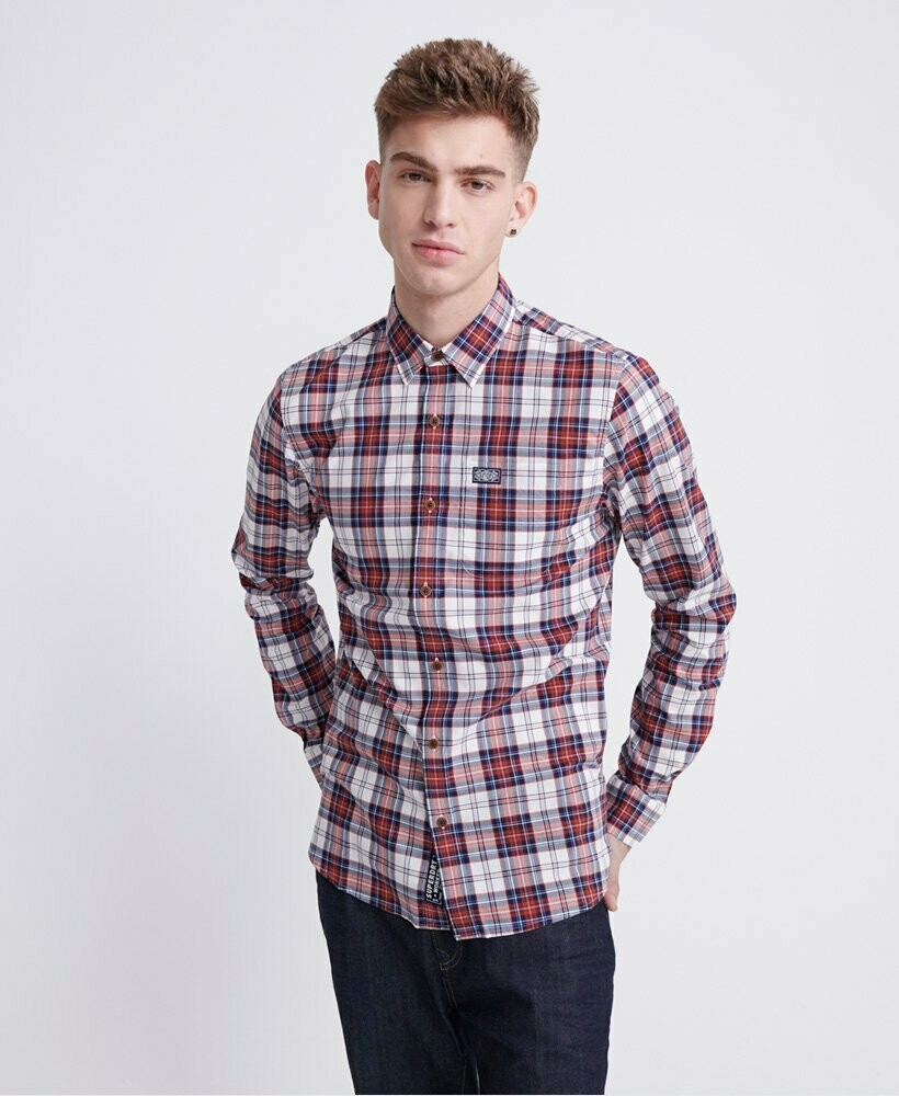 Camisa Cuadros Workwear White Check