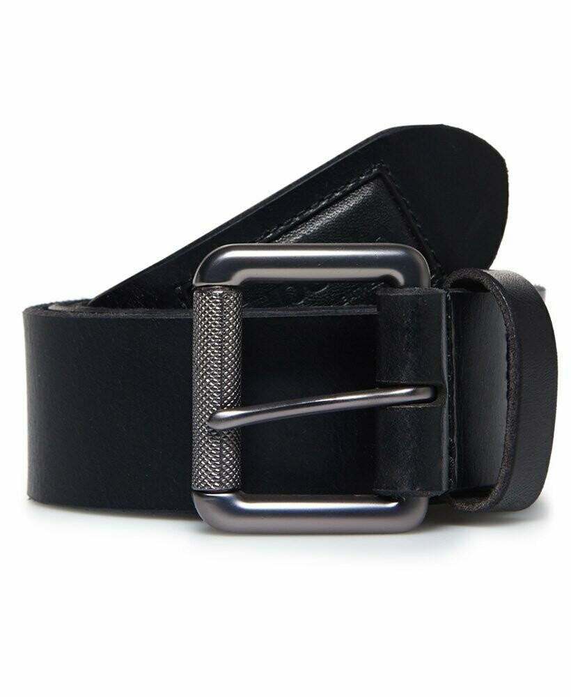Cinturon Badgeman De Piel 100% Negro