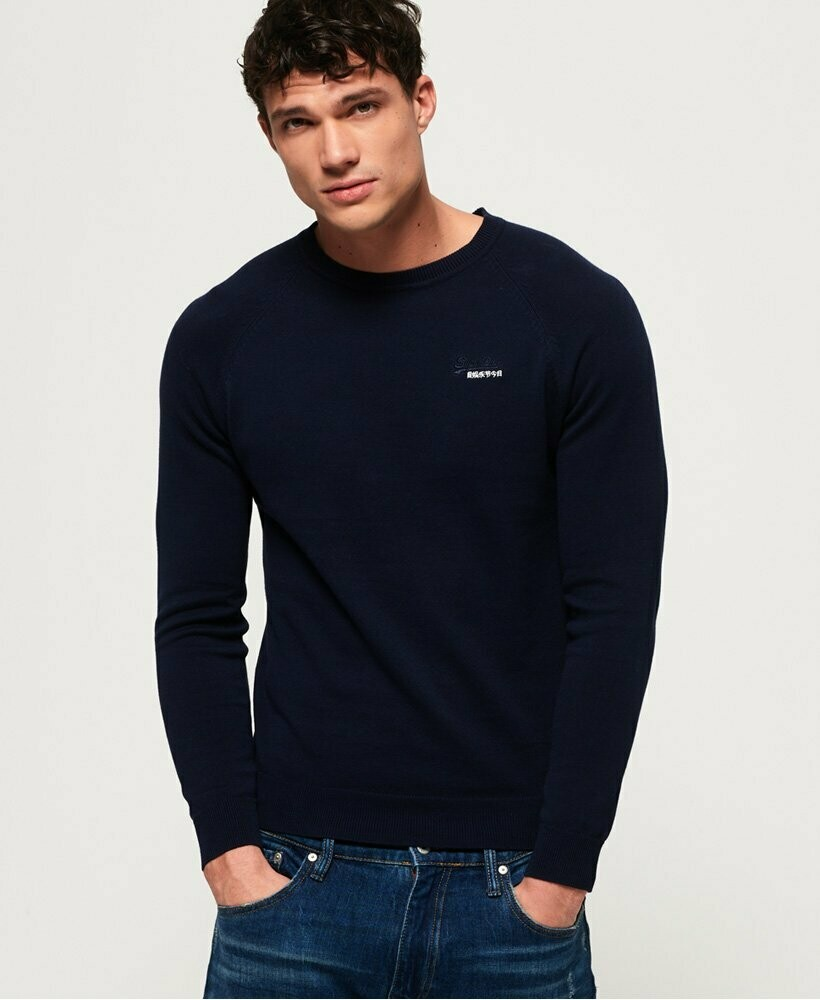 Orange Label Cotton Crew Jumper classic navy