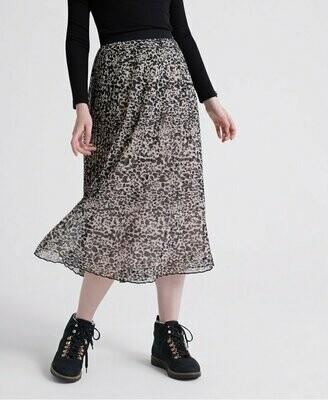 Falda Plisada pleated midi skirt alaska leopard print
