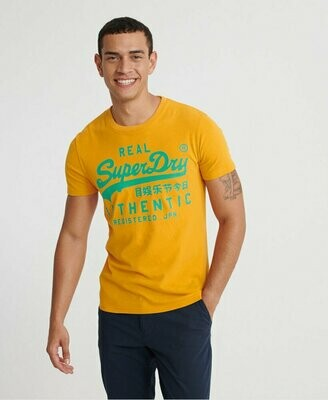 Camiseta Vintage Authentic Fluro T-Shirt Golden yellow