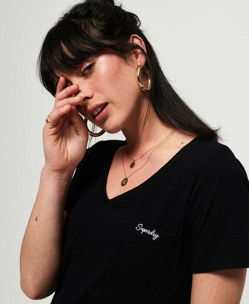 Camiseta Orange Label Essential Vee T-Shirt negra
