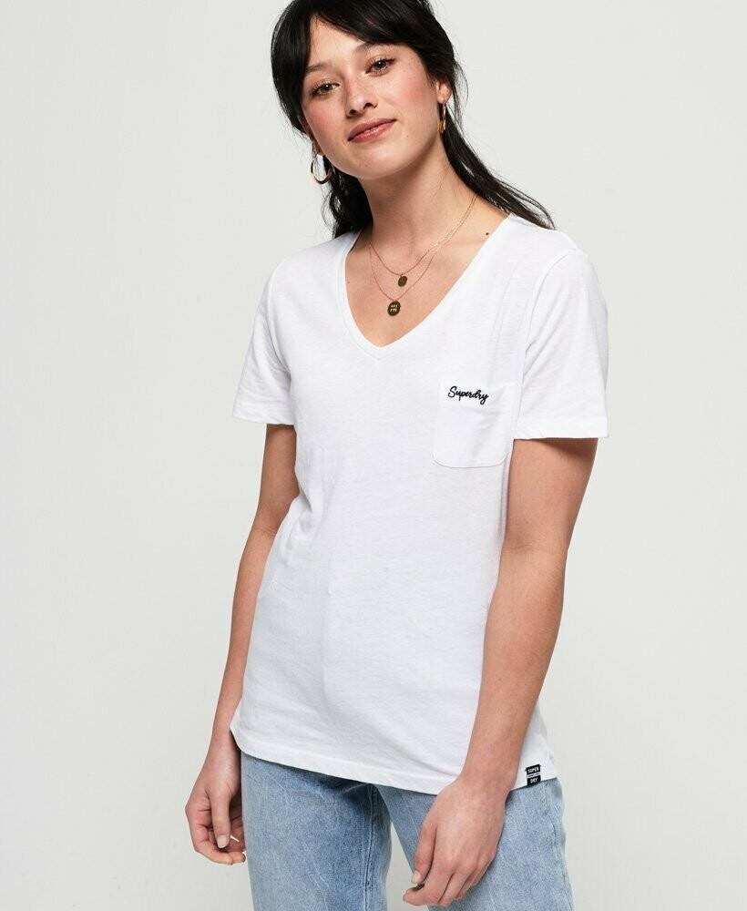 Camiseta Orange Label Essential Vee T-Shirt BLANCA