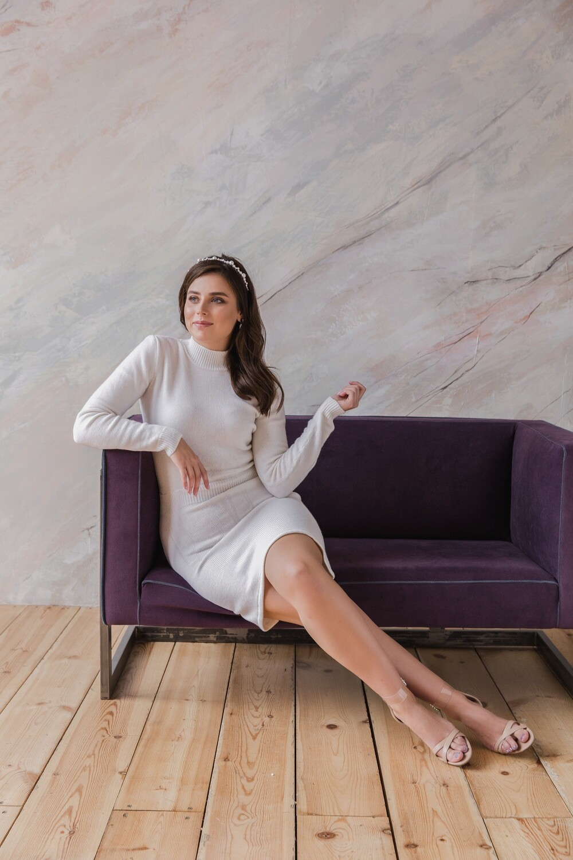 Вязаное мини-платье Kylie