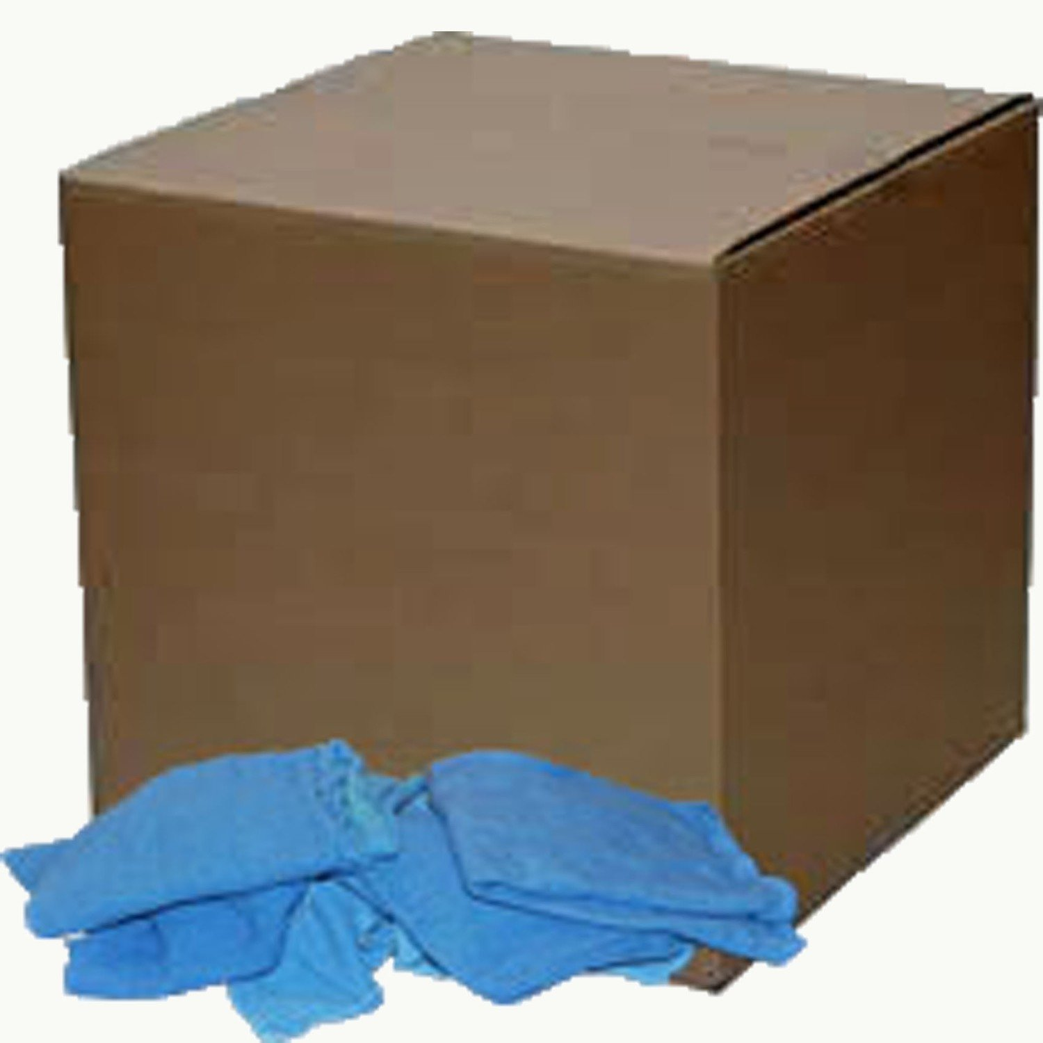 25 Lb. Box of Reclaimed Blue Huck Surgical Towels
