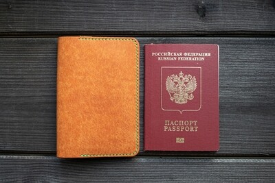 Обложка для паспорта рыжая