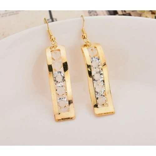 Gold Colors Hanging Earings Fashion Earrings