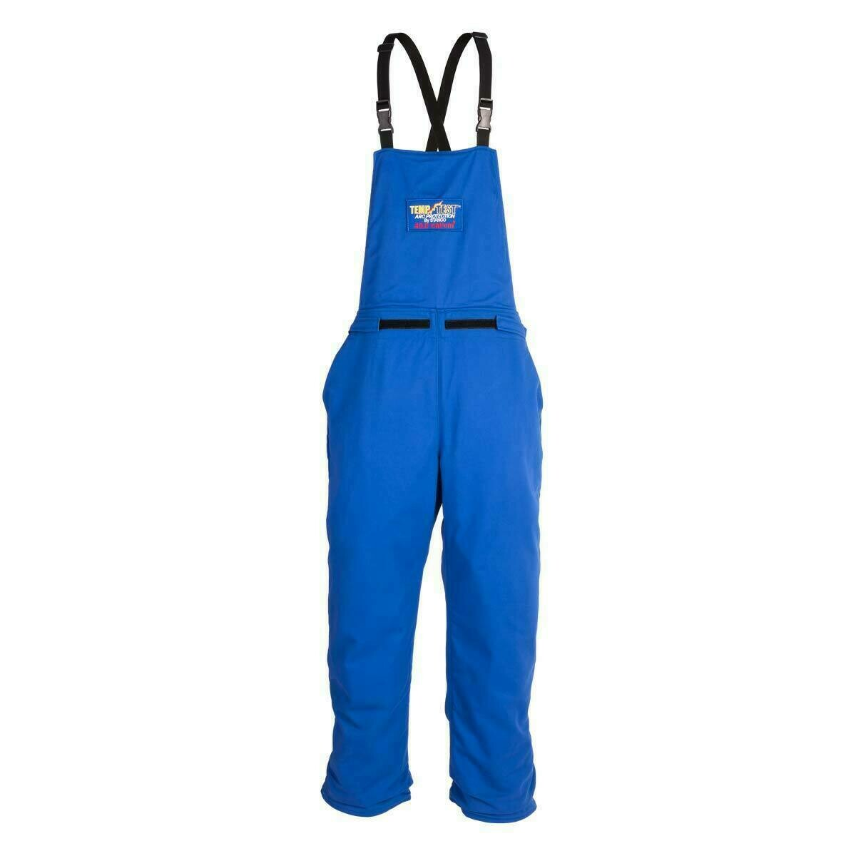 TT11-670 Temp Test™ Arc Protection Bib Overall M Royal Blue Cat 2 Arc 12.4/cal