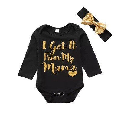 Bling Gold Romper with Bow