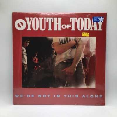YOUTH OF TODAY -WE'RE NOT IN THIS ALONE- LP (COLOR VINYL)