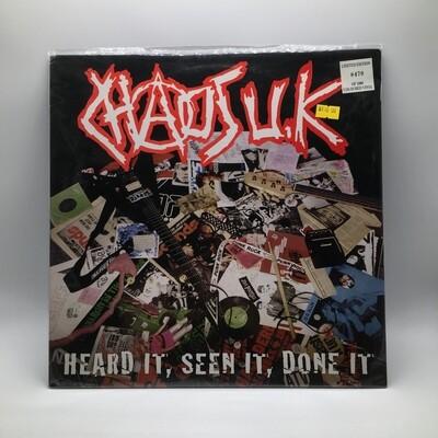 CHAOS UK -HEARD IT, SEEN IT, DONE IT- LP (COLOR VINYL)