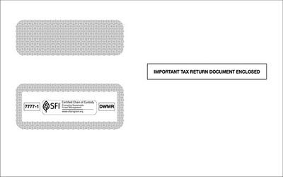 1099 2-Up Double Window Envelope #7777-1 (Set of 100)