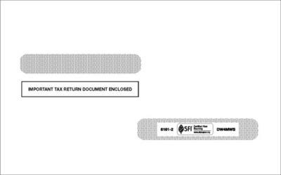 W2 Self-Seal Envelope #6161-2 (Set of 100)