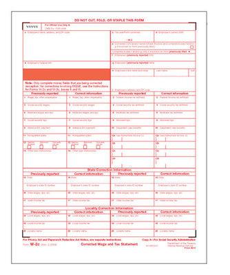 W-2C Form #5313 SSA Copy A (Pkg. of 100 Forms)