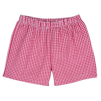 Boys Gingham Shorts (Colors Vary)
