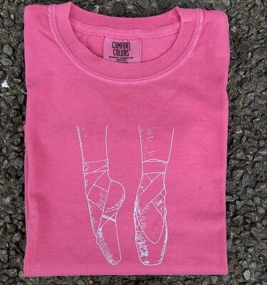 Ballet Toe Point Sketch Pink Tee