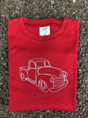Vintage Truck Sketch Red Tee