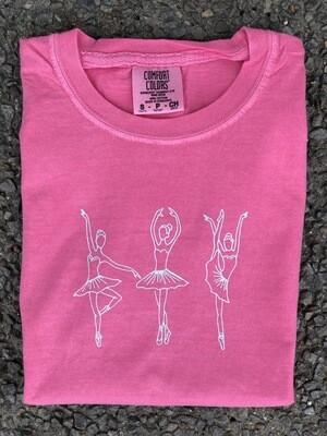 Ballet Trio Sketch Pink Tee
