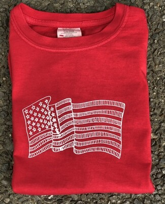 Flag Sketch Red Tee