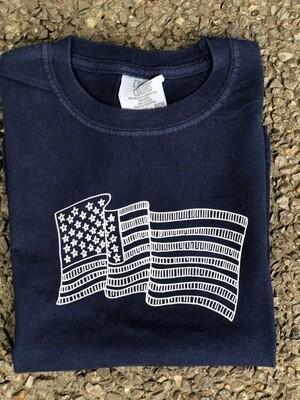 Flag Sketch Navy Tee