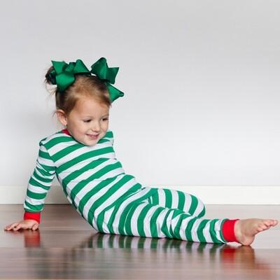Christmas PJ Dark Green Kids set