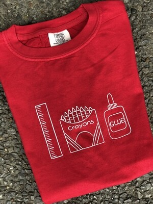 Back to School Trio Sketch Red Tee