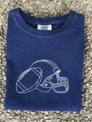 Helmet Sketch Navy Tee