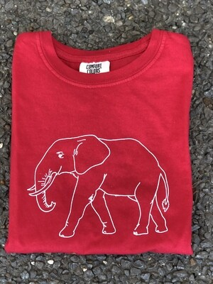 Elephant Sketch Red Tee