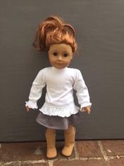 Doll Long Sleeve Ruffle Tee