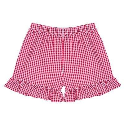 Ruffle Gingham Shorts (Red, Pink, & Aqua!)