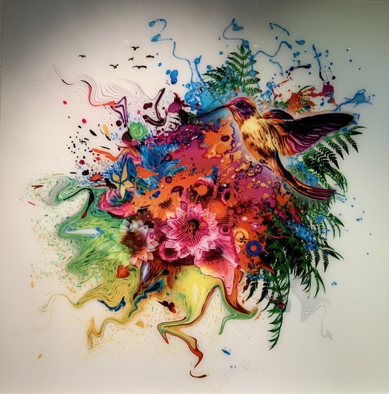 EFFECT PAINTING ART ON GLASS