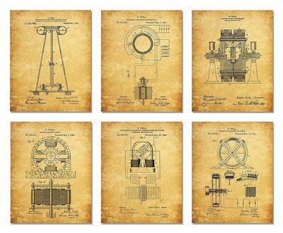 Nikola Tesla Six Prints Only