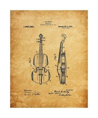 Violin, 1929, Unframed & Matted