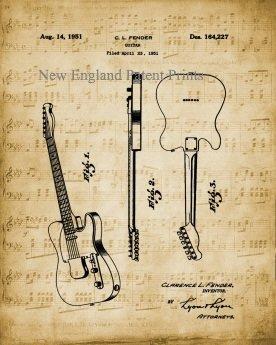 Guitar - Fender 1951 Unframed