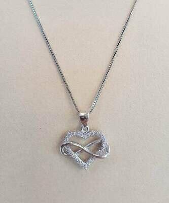 collana cuore/infinito arg 925