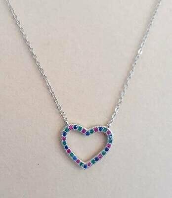 collana cuore arg 925