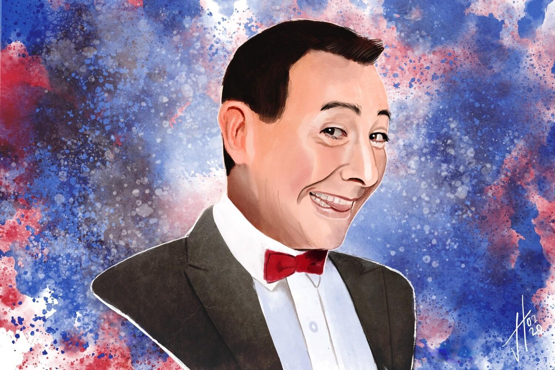 Pee-Wee Herman Portrait Print