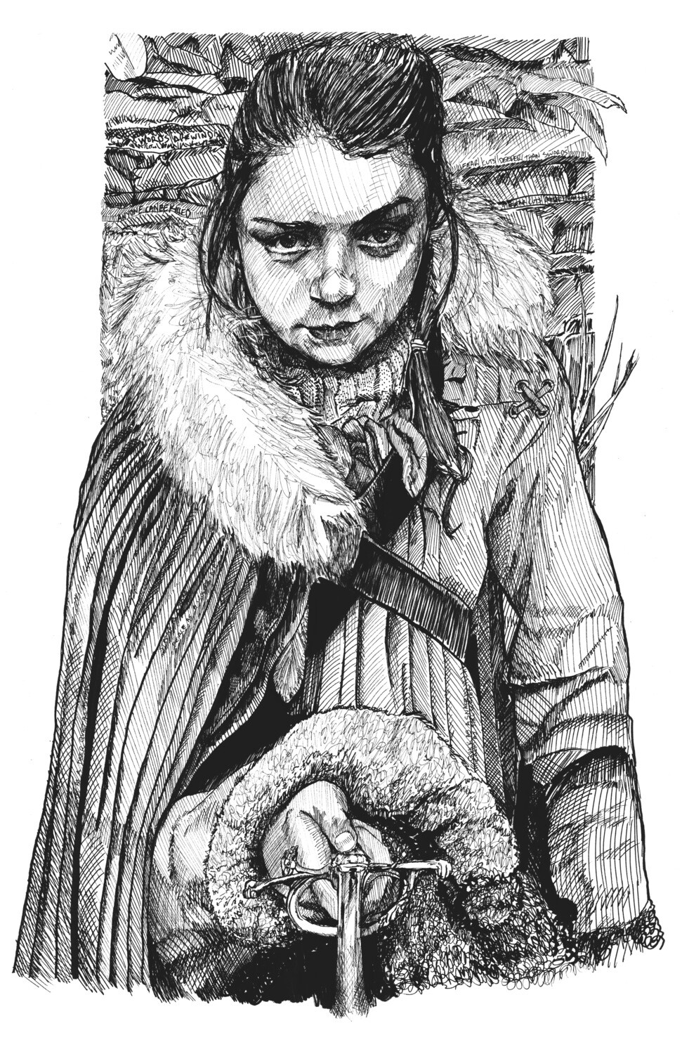 Game of Thrones Arya Stark Art Print
