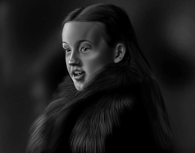 Lyanna Mormont Game of Thrones Art Print