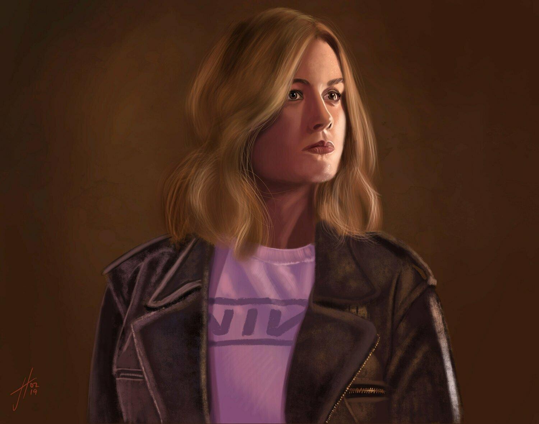 Captain Marvel Brie Larson Art Print