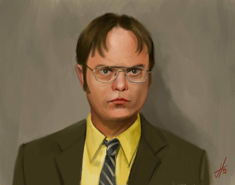 Dwight K Schrute Art Print The Office