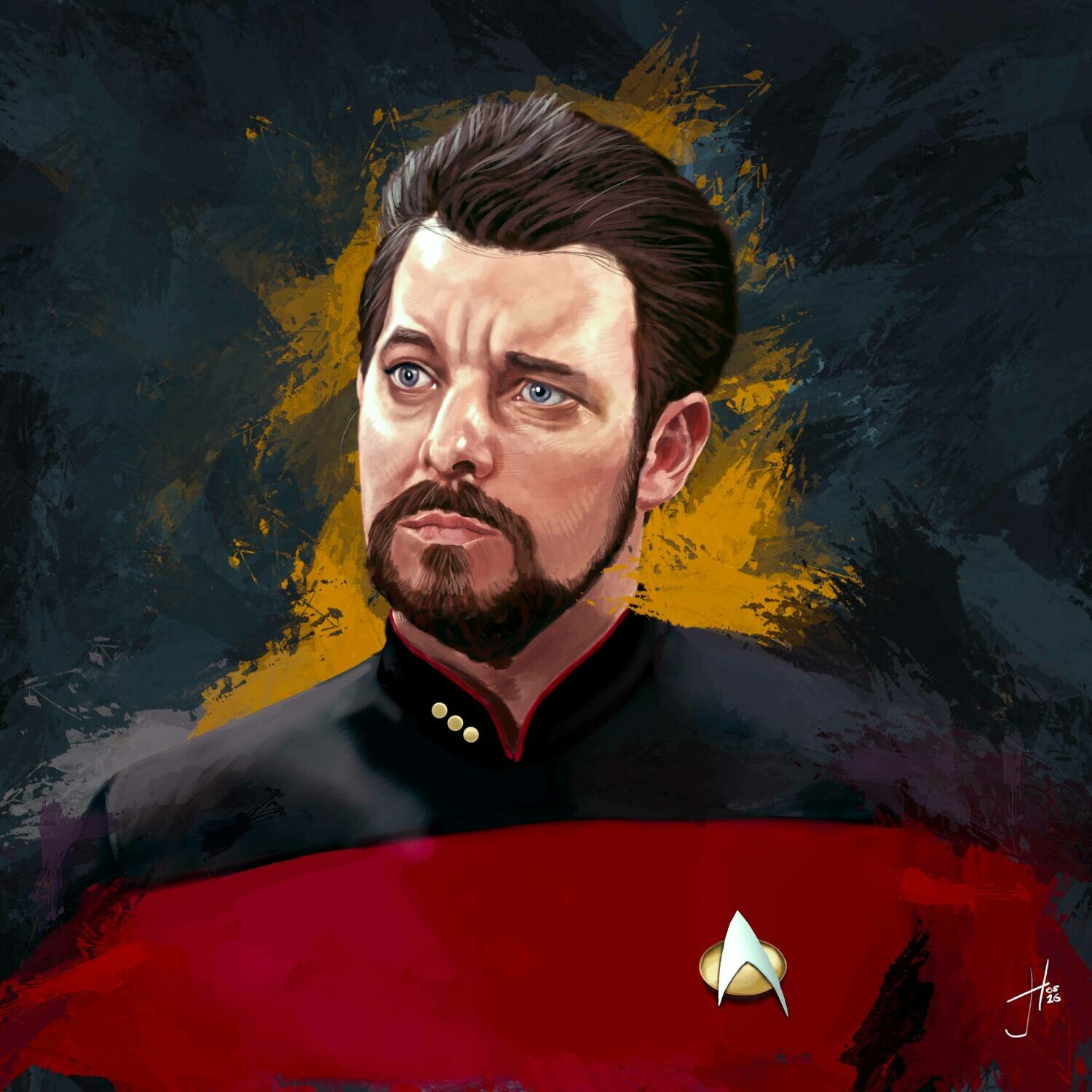Star Trek Riker Art Print