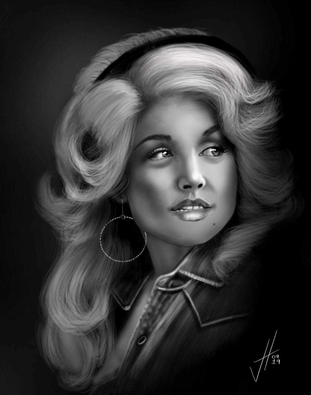 Dolly Parton Portrait Print