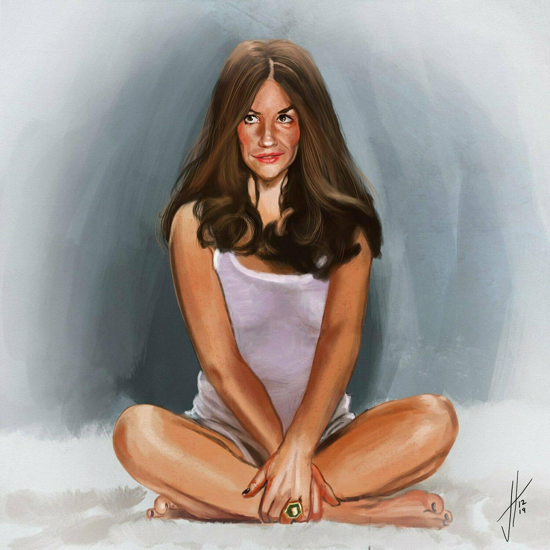 Evangeline Lilly Art Print