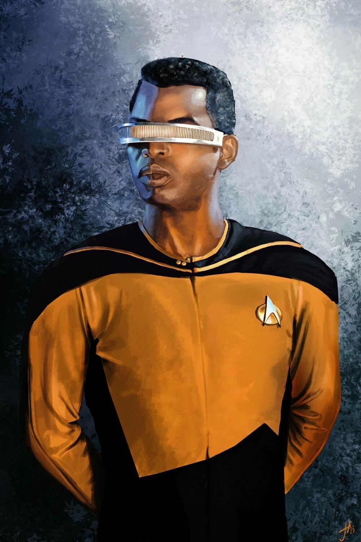 Star Trek Geordi La Forge LeVar Burton Art Print