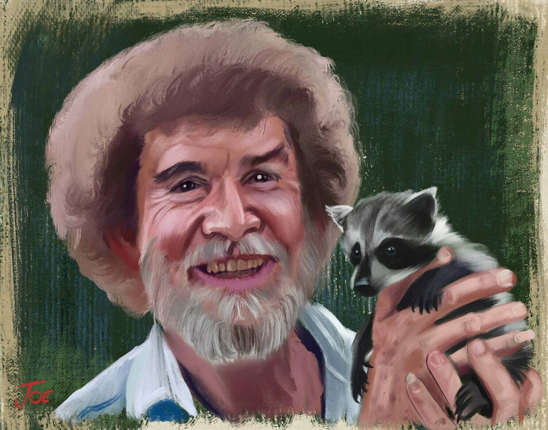 Bob Ross Portrait Art Print